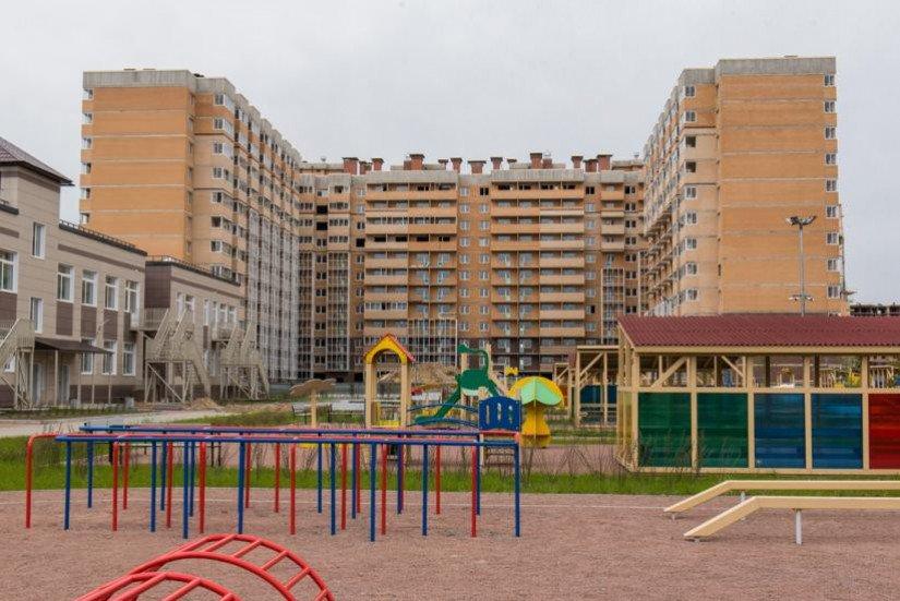 Новое Янино  спортивная площадка