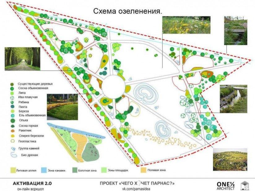 сервис Otmetky проект сквера на Парнасе