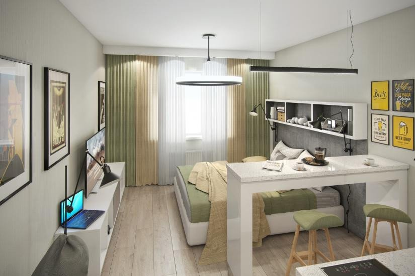 Инвест-отель IN2IT внутренняя отделка апартаментов