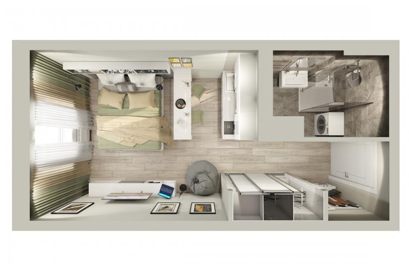 Инвест-отель IN2IT планировка пространства
