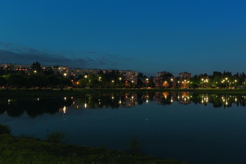 ЦДС «Полюстрово»   вид из окон ночью