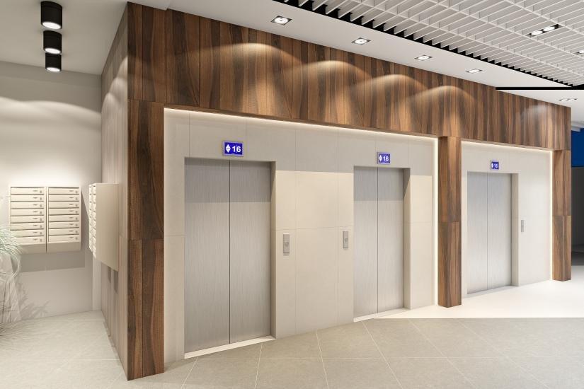 «Wings. Апартаменты на Крыленко» лифтовой холл