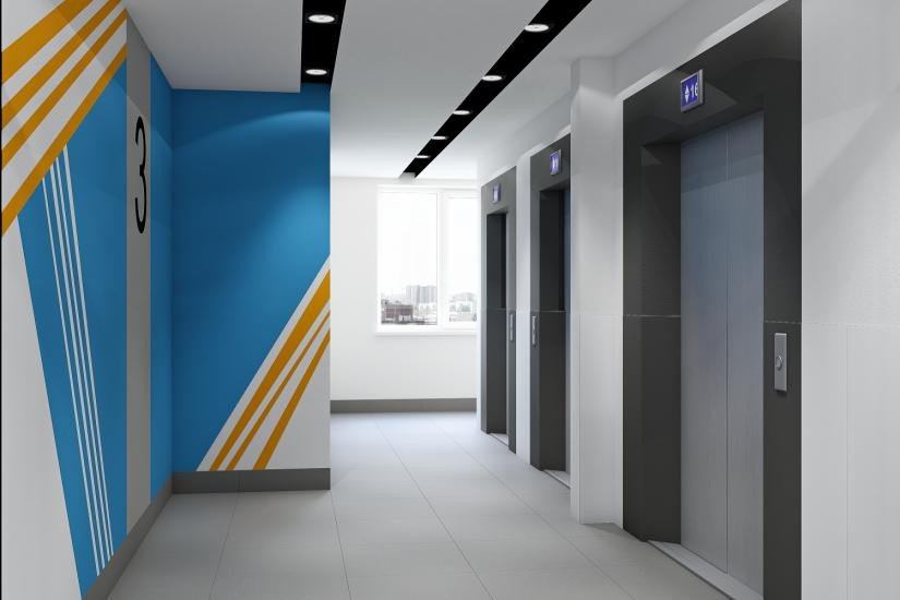 «Wings. Апартаменты на Крыленко» лифты на этажах