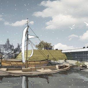 Проект археологического музея на Охтинском мысе. Архитектурная мастерская «Студия-17».