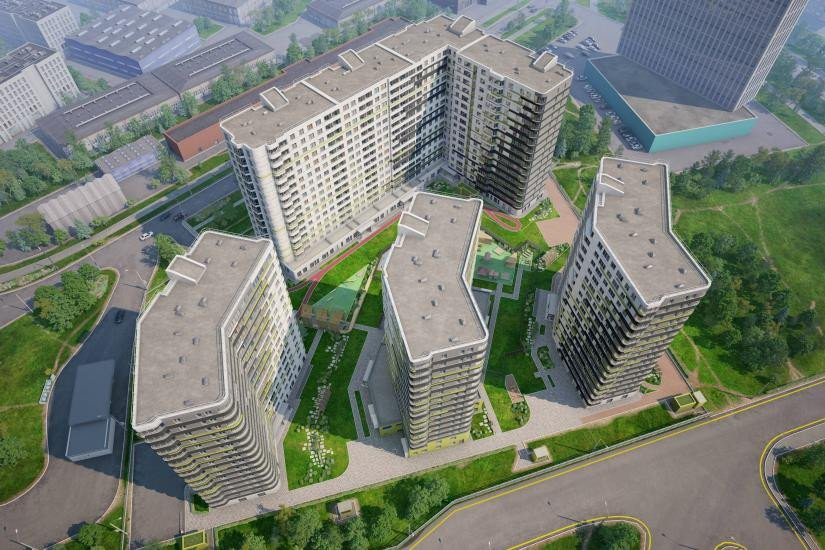ЖК дом на Львовской вид сверху