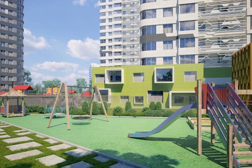 ЖК дом на Львовской  детская площадка