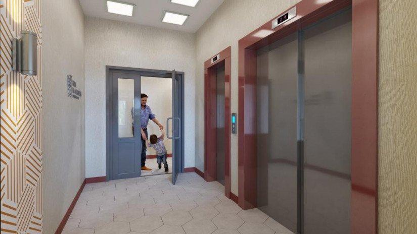ЖК Полис на Московской лифтовой холл